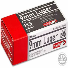 9MM FMJ 115gr 50rds/box
