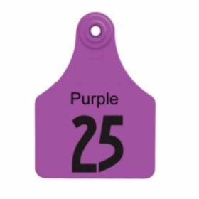 Allflex: Lg. Fem/Sm Male Purple 1-25
