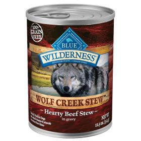 Wilderness Wolf Creek Stew All Breeds Adult Hearty Beef Stew  12.5 oz.