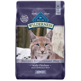 Wilderness All Breeds Adult Chicken Recipe DRY CAT Dry Cat Food, 12 lb.