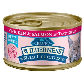 Wilderness Wild Delights All Breeds Adult Meaty Morsels Chicken & Salmon Recipe 3 oz.