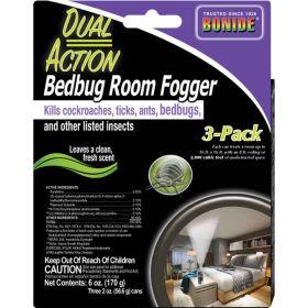 Dual Action Bed Bug Room Fogger 2Oz 3-Pk 12/Cs