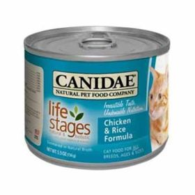 Canidae: Canidae Cat Chicken/Rice 12/5.5 Oz.