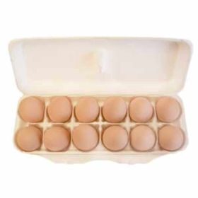 Clay Concepts: Ceramic Chicken Egg Brown (12)