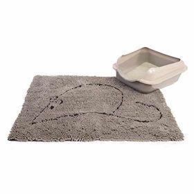 Cat Litter Mat Grey 35 X 26