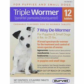 Durvet: Triple Wormer Pup/Sm Dog 12Ct Bx