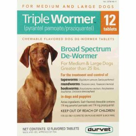 Durvet: Triple Wormer Medium/Large Dog 12Ct Bx