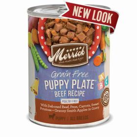 Puppy Plate Beef 12.7 Oz. Can 12/Case