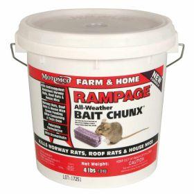 Motomco: Rampage Bait Chunk 4lb Pail 4/Cs