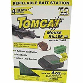 Motomco: Refillable-Mouse Station 4Pk