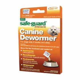 Safe-Guard: Canine Deworm 1Gm 8Pk Display