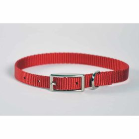 "Valhoma: Collar 3/8"" X 10"" Single Layer Red"