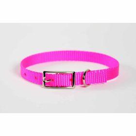 "Valhoma: Collar 3/8"" X 12"" Single Layer Hot Pink"